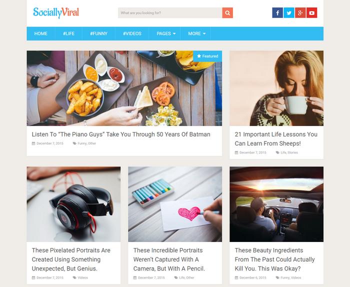 Socially Viral wordpress magazine theme