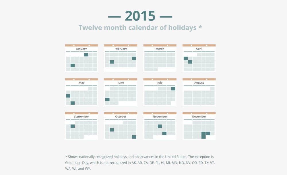 Calendar Design Css : Best free calendar templates psd css wallpapers