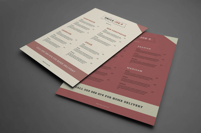 Lunch menu template psd