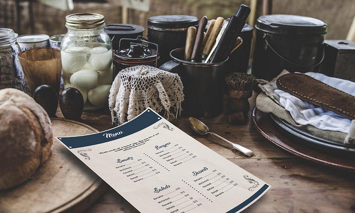 Restaurant Menu Design mockup