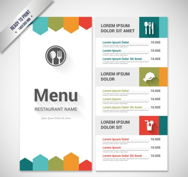 colorful-menu-template