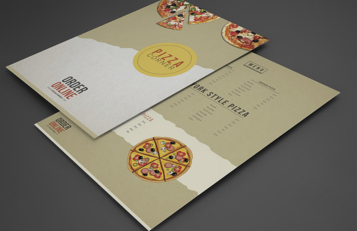 pizza menu free psd template