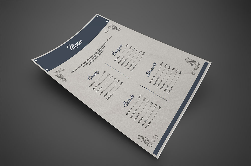 Restaurant Menu Flyer PSD