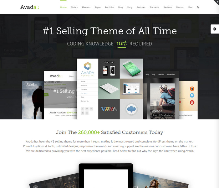 Avada Classic WordPress Theme