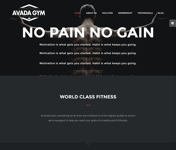 Avada GYM Theme
