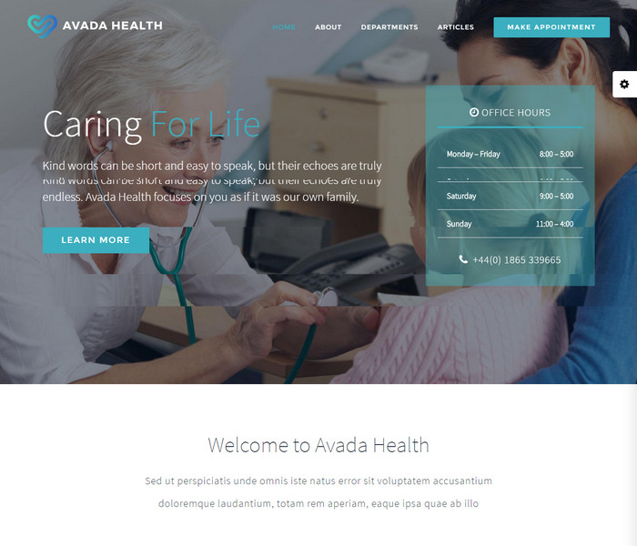 Avada Health WordPress Theme