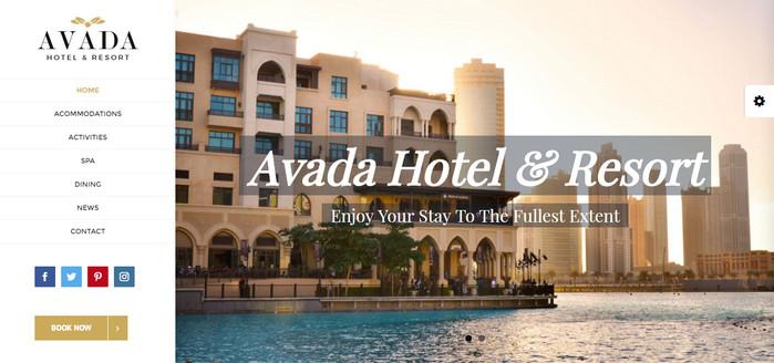 Avada Hotel Theme