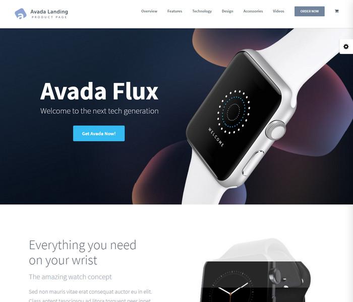 Avada Landing WordPress Theme