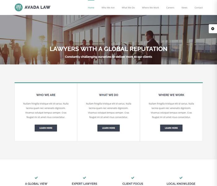 Avada Law WordPress Theme