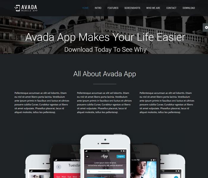 Avada Mobile App Theme