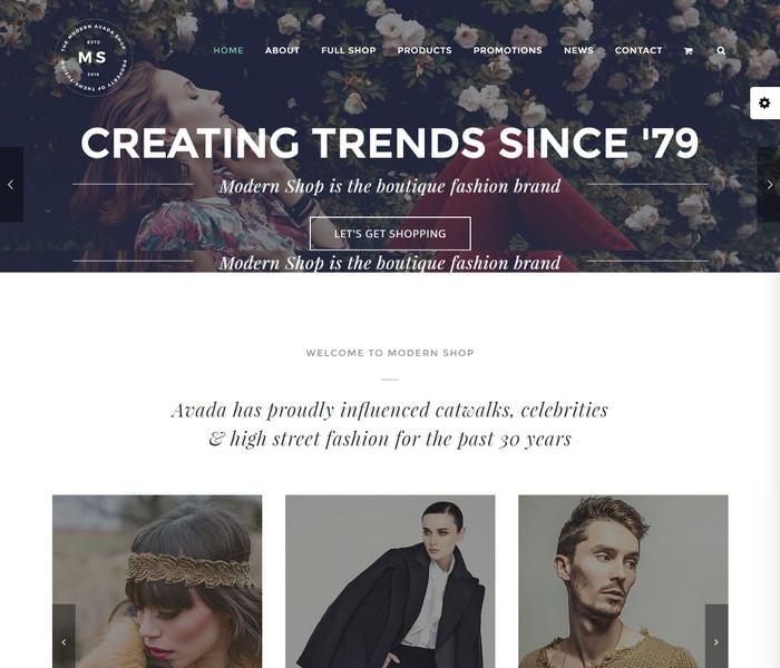 Avada Modern Shop Theme