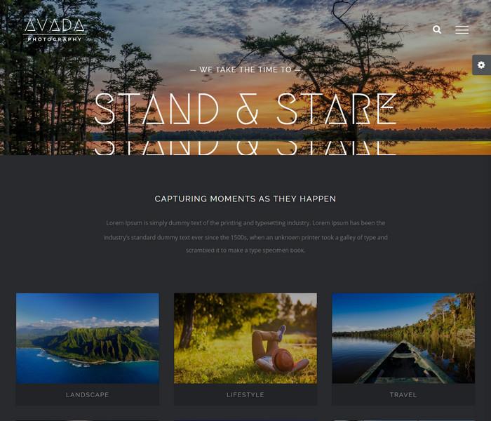 Avada Photography WordPress Theme