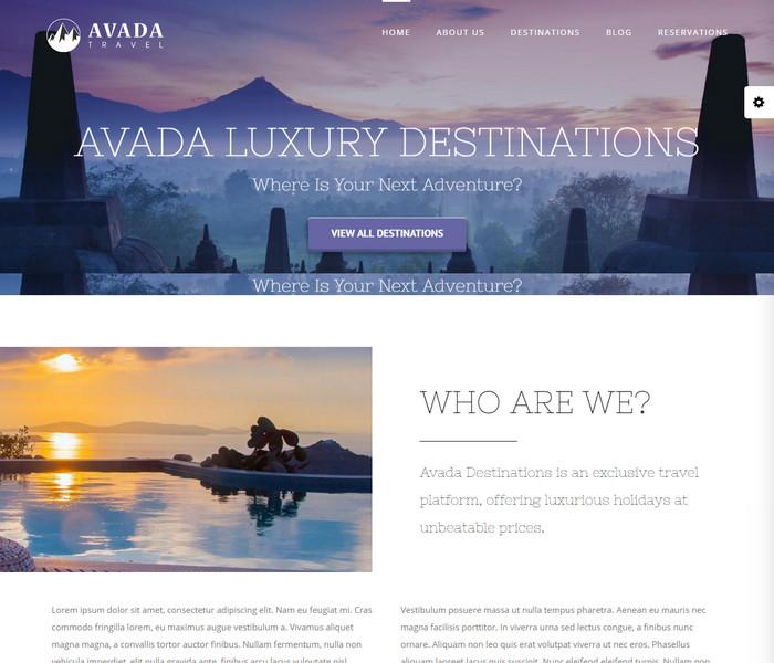 Avada Travel Theme