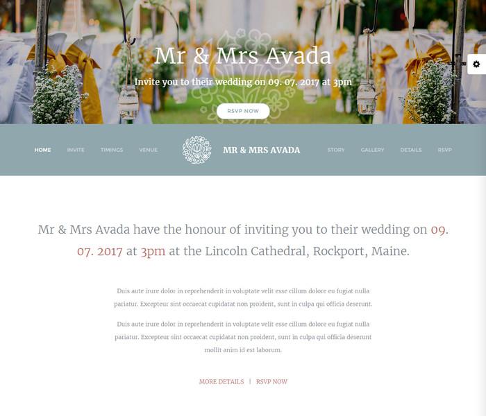 Avada Wedding WordPress Theme