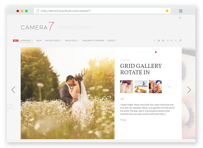 Camera 7 Minimal WordPress Theme