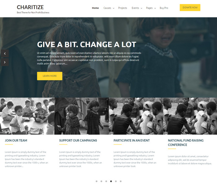Chartize WordPress Theme