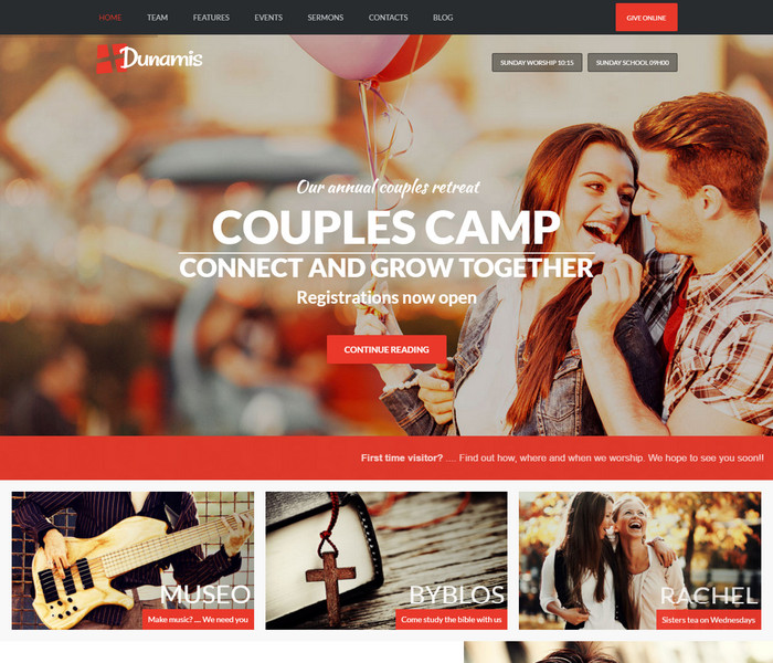 Dunamis Church WordPress Theme