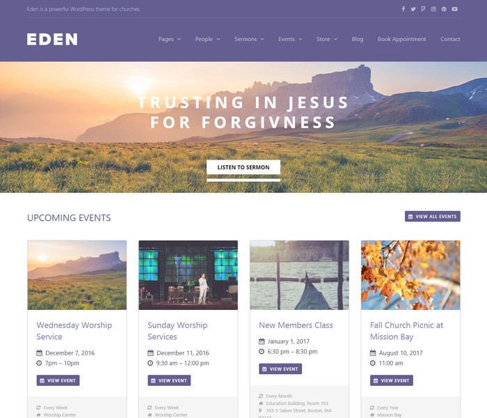 Eden Church WordPress Theme