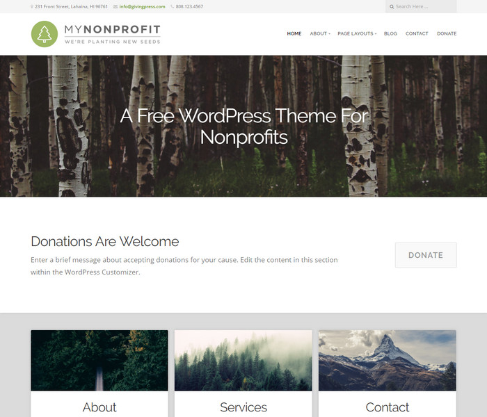 GivingPress Lite WordPress Theme