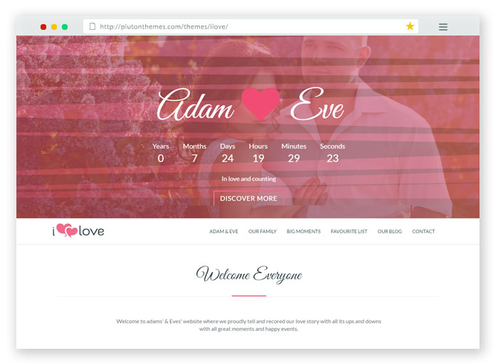 ILove Wedding WordPress Theme
