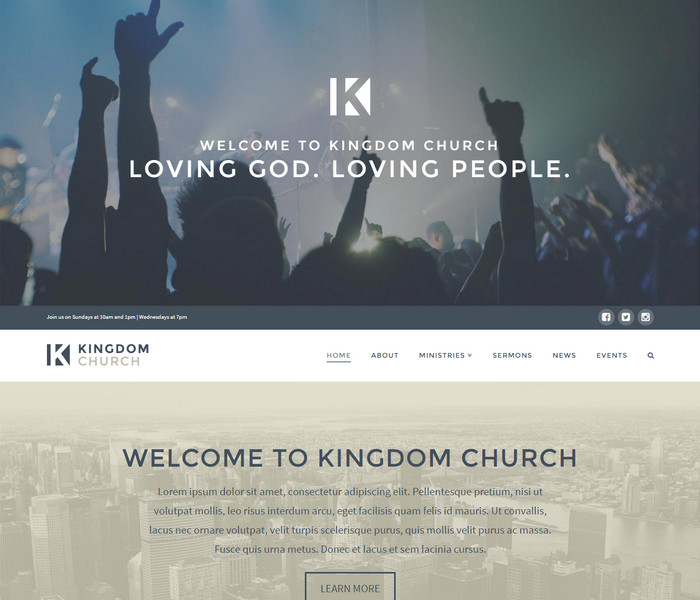Kingdom Church WordPress Theme