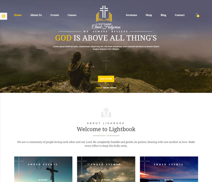 LightBook Church WordPress Theme