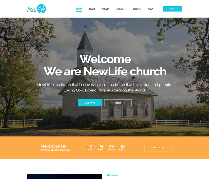 New Life Church WordPress Theme