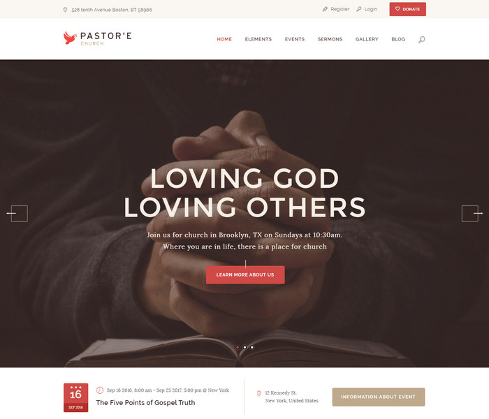 Pastores Church WordPress Theme