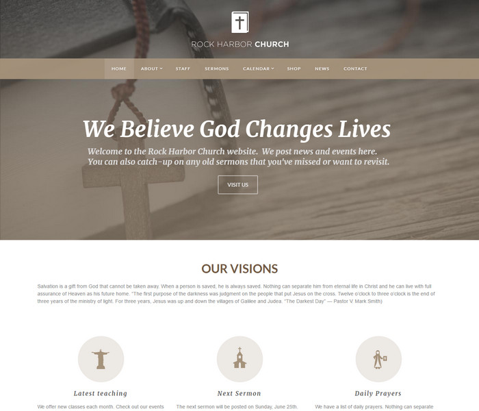 Rock Harbor Church WordPress Theme