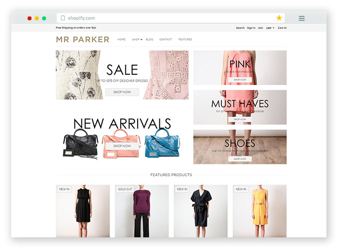20 best free premium shopify themes 2019 for online store for Online store design