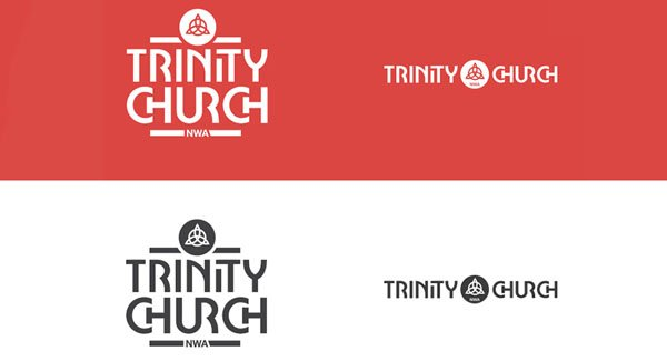 minimalistic design of Church logo