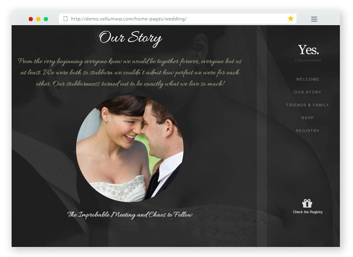 Vellum RSVP WordPress Template