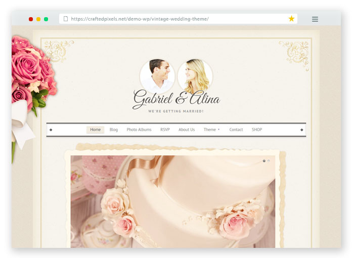 Vintage Wedding Template