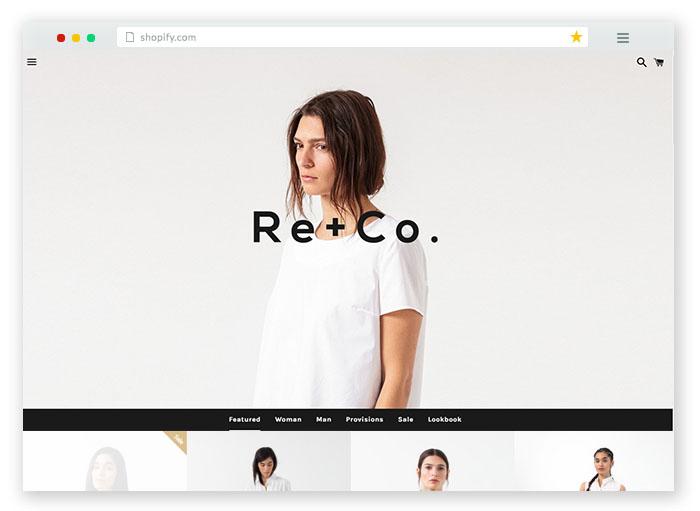 black white theme for shopify store