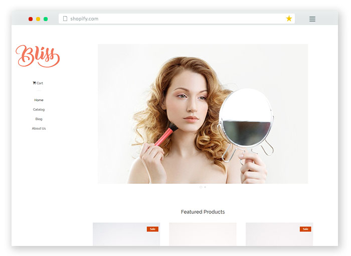 bliss ecommerce theme for clothing stores