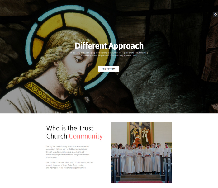church wordpress theme with event calendar