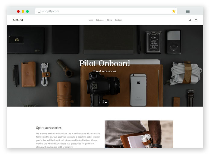 debut free ecommerce website template