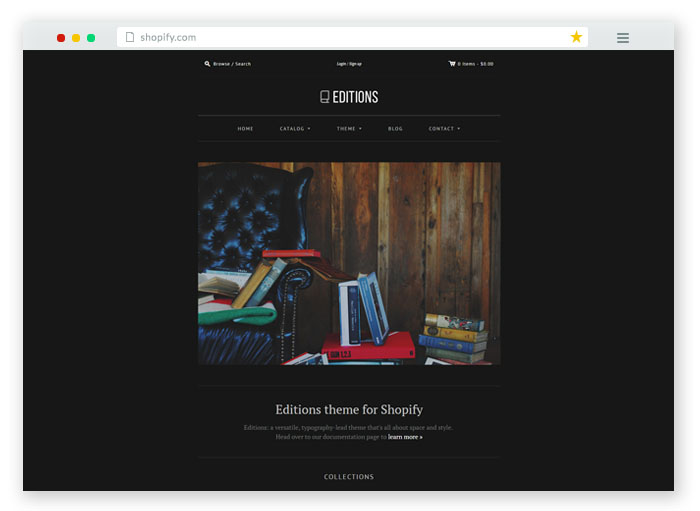 edition bookstore ecommerce template