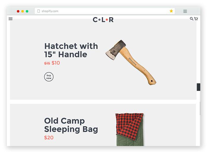 generic minimalistic ecommerce template