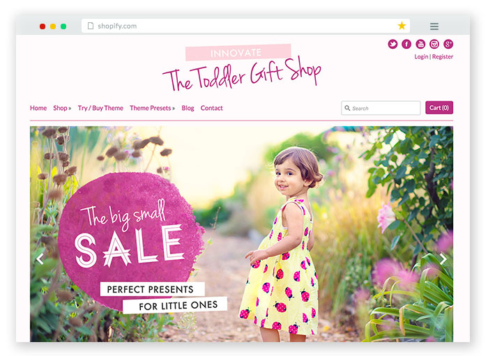 innovate kids ecommerce theme
