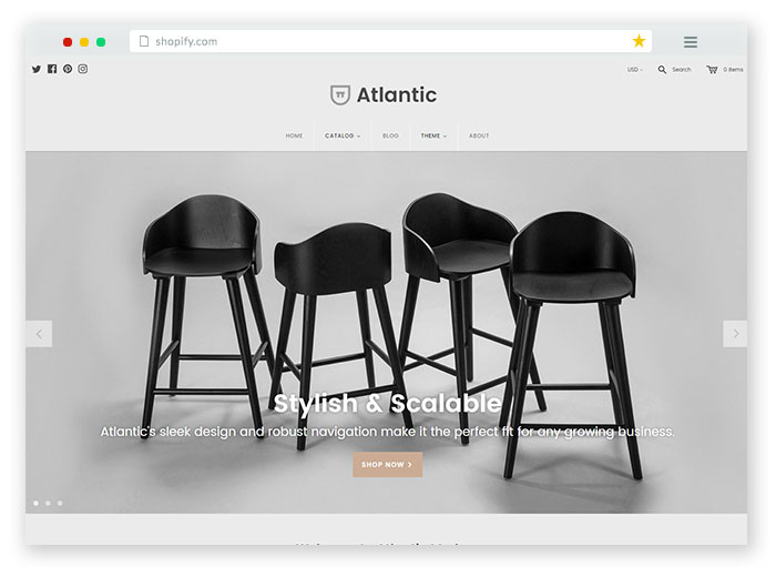 modern ecommerce theme for furniture websites