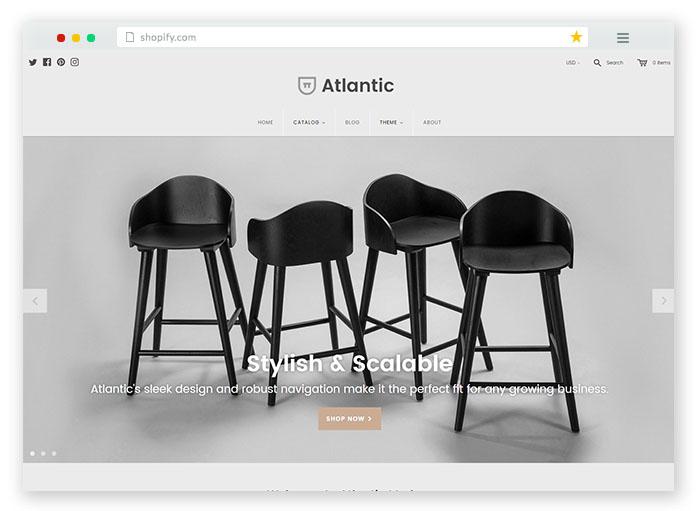 modern ecommerce theme for furniture websites