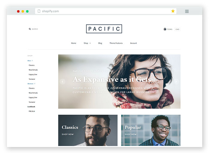 pacific ecommerce store theme
