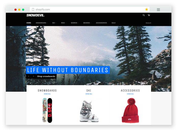 Snowboards Theme - Venture Ecommerce Website Template
