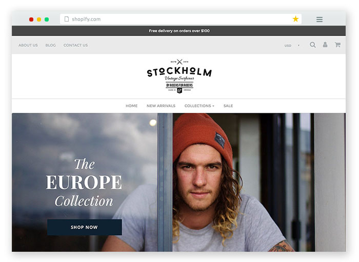 stockholm ecommerce theme for fashion stores and websites