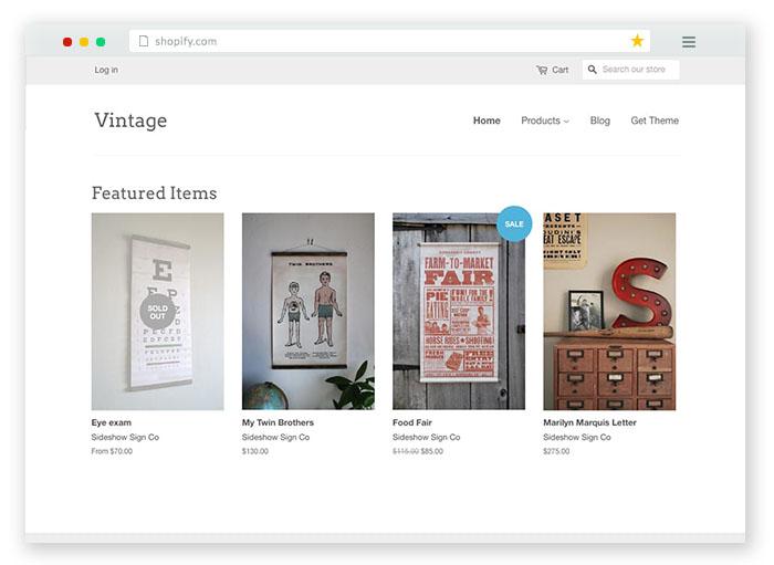 vintage minimal ecommerce store theme
