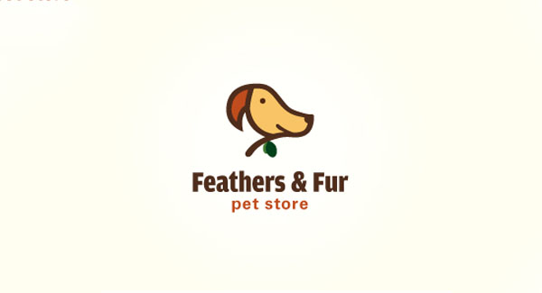 Feathers and Fur Pet Store Logo
