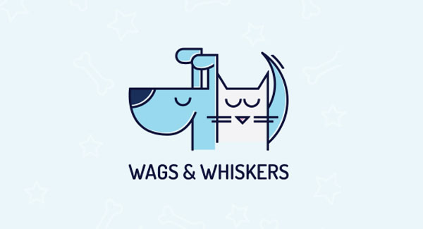 Wags and Whiskers Pet Logo