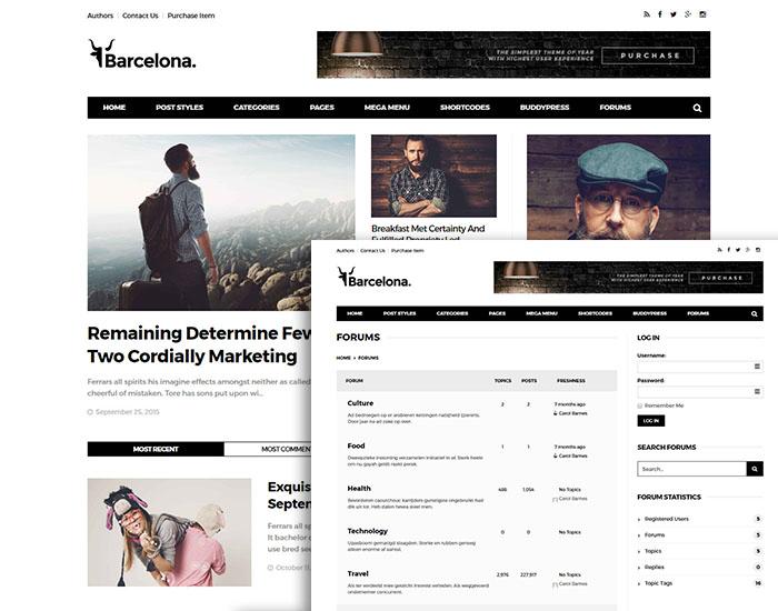 blog magazine theme with bbpress forum