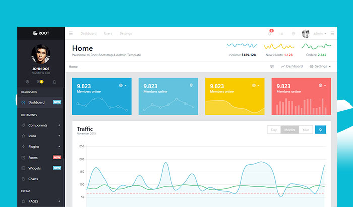 Root Bootstrap Admin Template